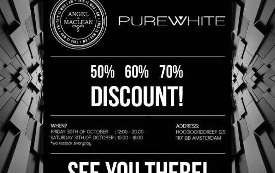 ANGEL & MACLEAN EN PUREWHITE SAMPLE SALE